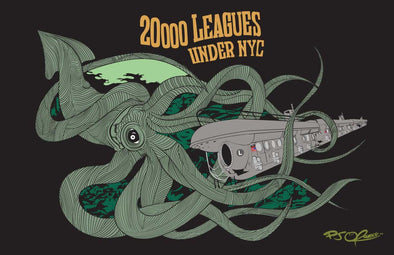 20000 Leagues Under NYC print