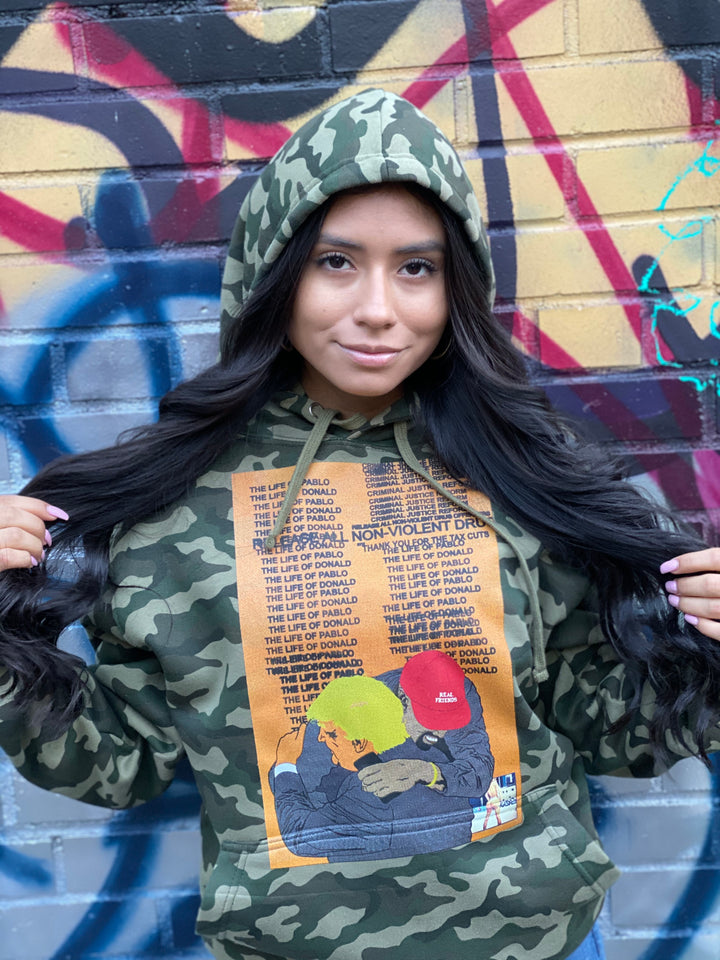 Real Friends camouflage hoody