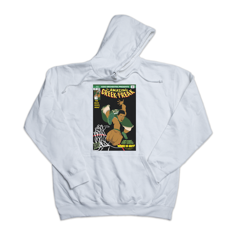 The Amazing Greek Freak white hoody