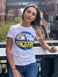 New York Fuckery ladies white tee