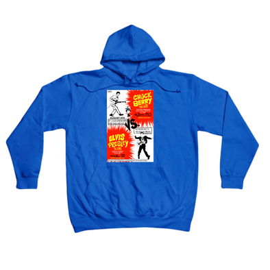 Chuck Berry vs. Elvis Presley royal hoody