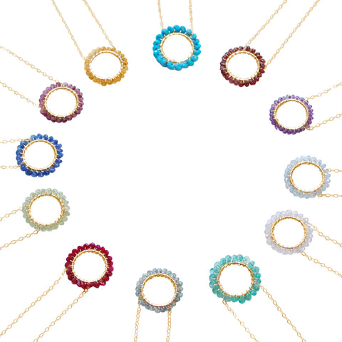 Birthstone Circle Necklaces
