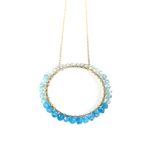 Blue Ombre Circle