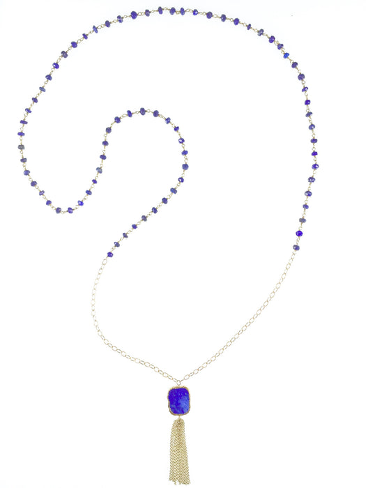 Lily Necklace - Lapis