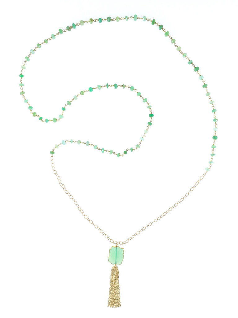 Lily Necklace - Chrysoprase