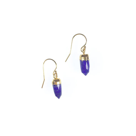 Ginger Earrings - Lapis