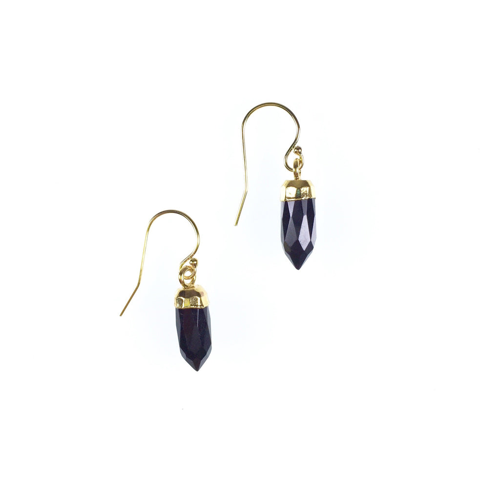 Ginger Earrings - Black Garnet