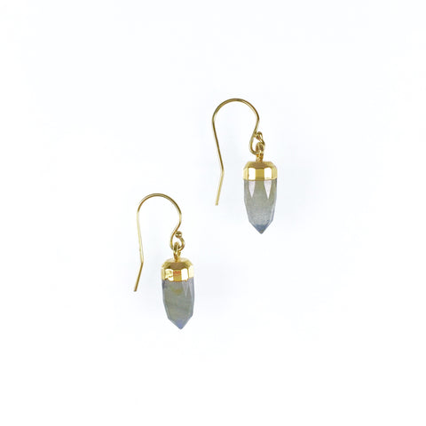 Ginger Earrings - Labradorite