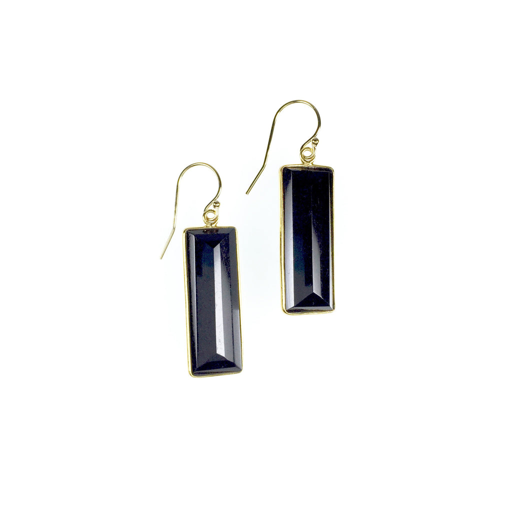 Vivienne Earrings - Black Garnet