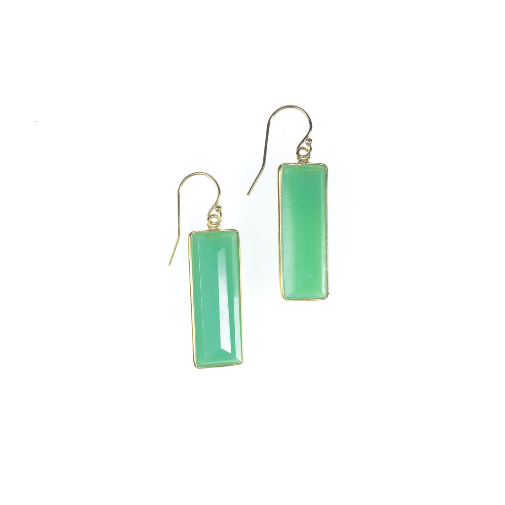 Vivienne Earrings - Chrysoprase