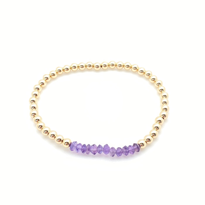 Becca Birthstone Bracelet - 4mm Yellow Gold Fill
