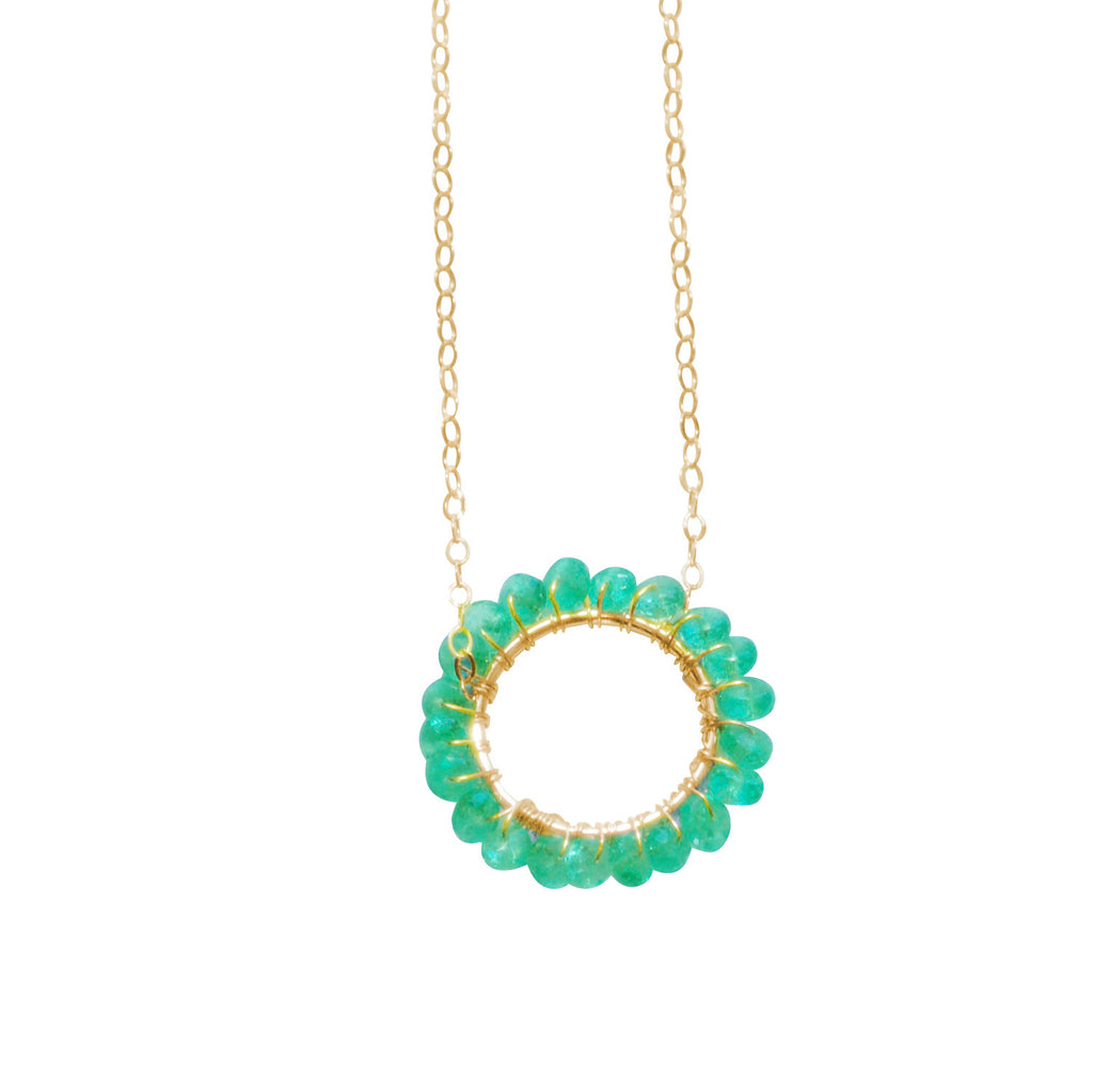 May Birthstone - Circle Necklace