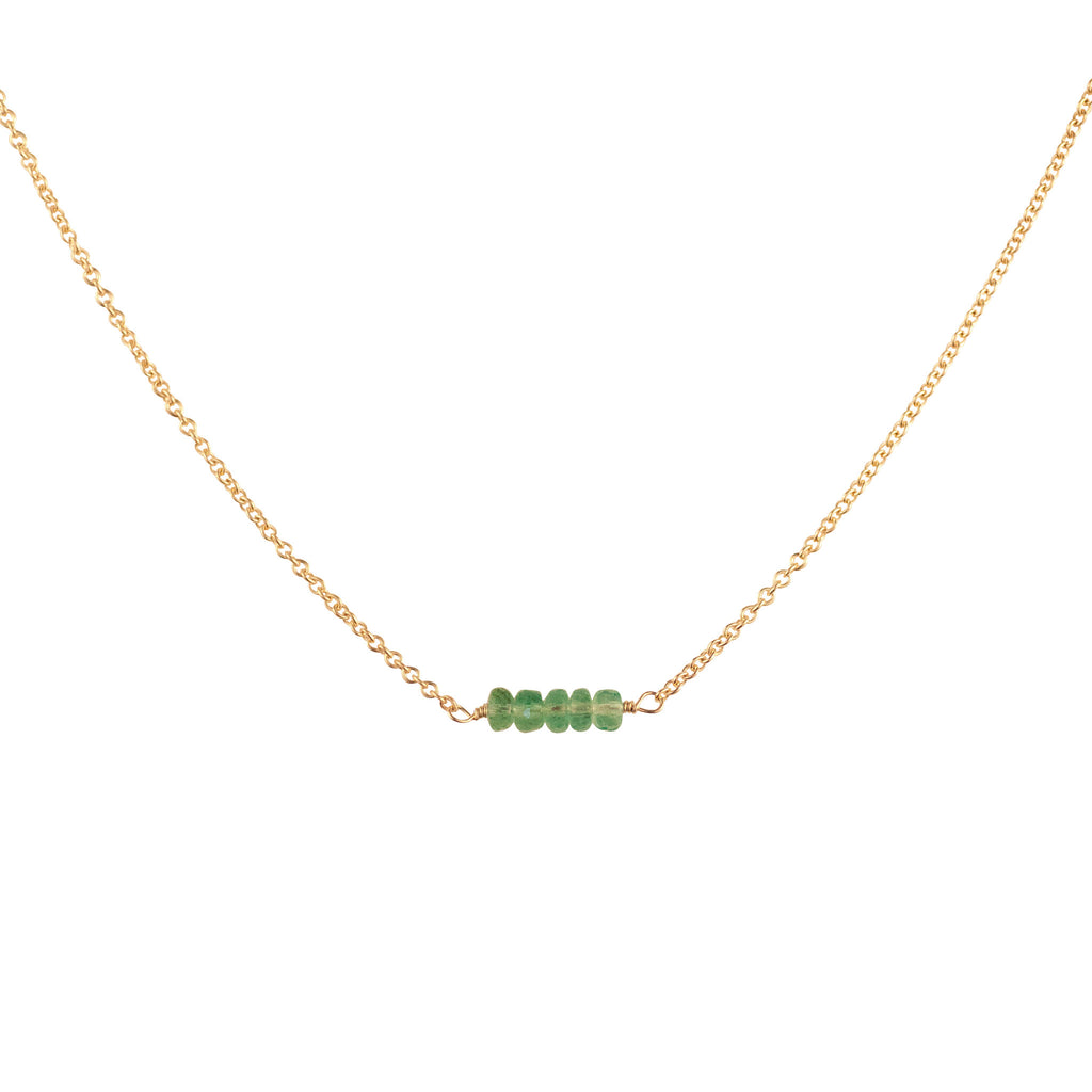 May Birthstone - Twig Necklace