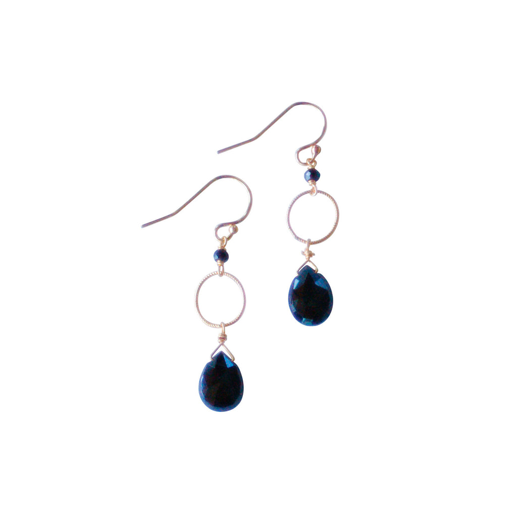 Julie Earrings - Black Garnet