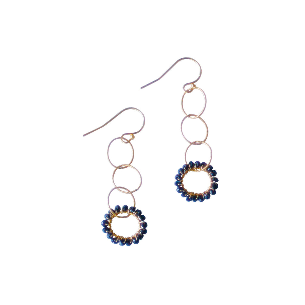 Rosanna Earrings - Black Garnet