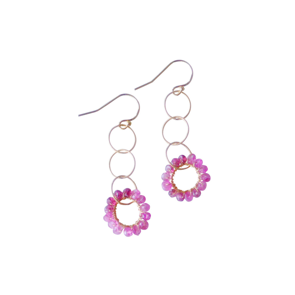 Rosanna Earrings - Pink Tourmaline