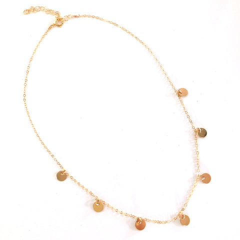 Little Coins Choker - Gold