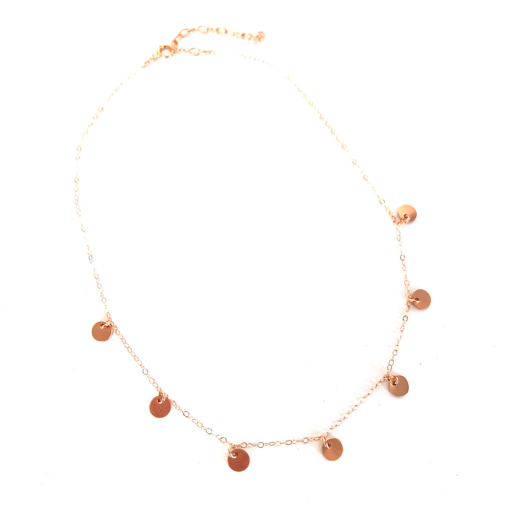 Little Coins Choker - Rose Gold