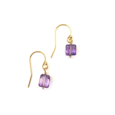 Laura Earrings - Amethyst