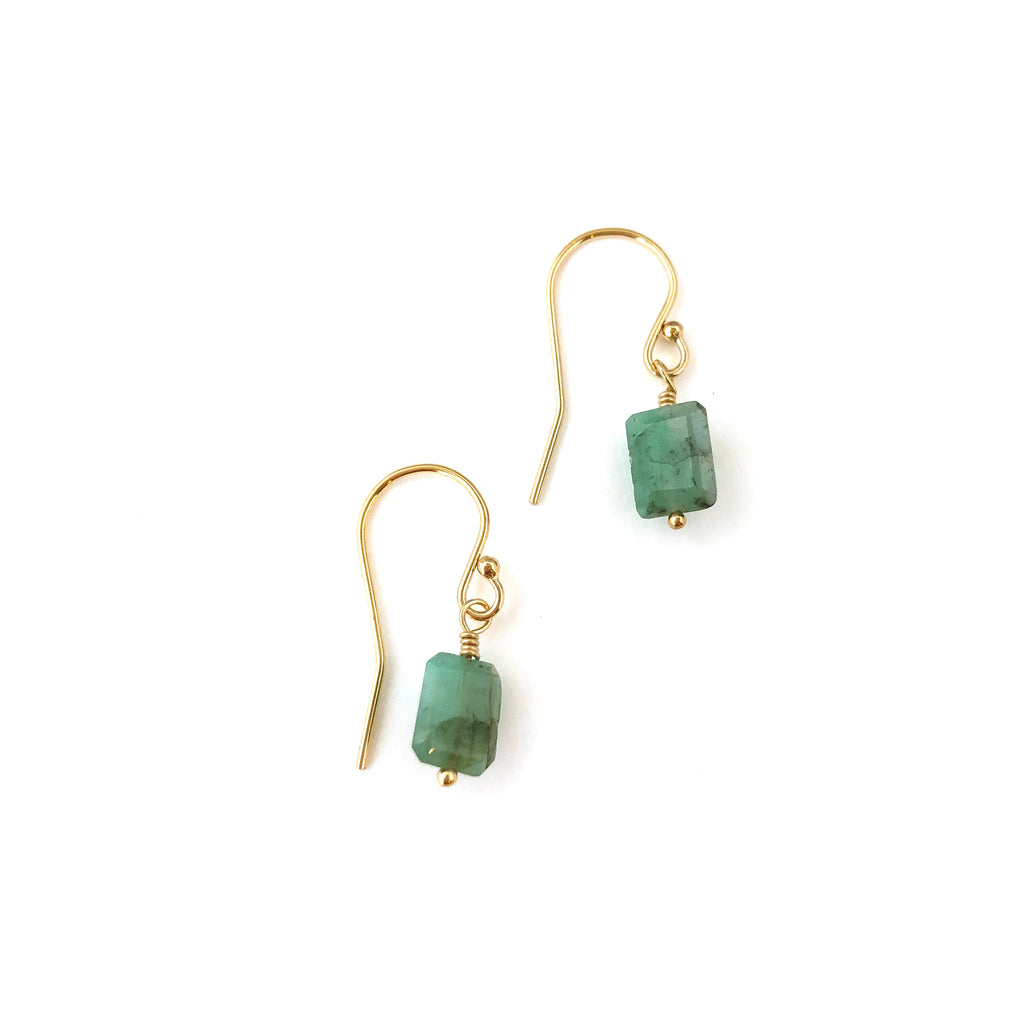 Laura Earrings - Emerald