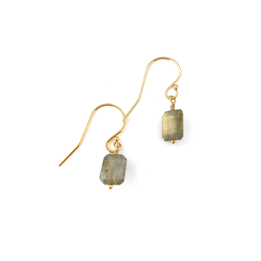 Laura Earrings - Labradorite