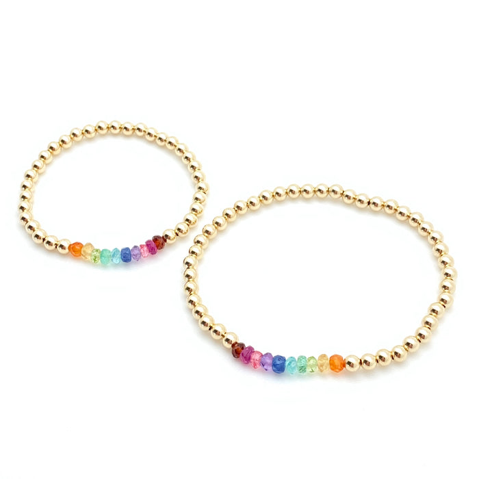 Becca Bracelet - Rainbow 4mm Mother & Daughter Set