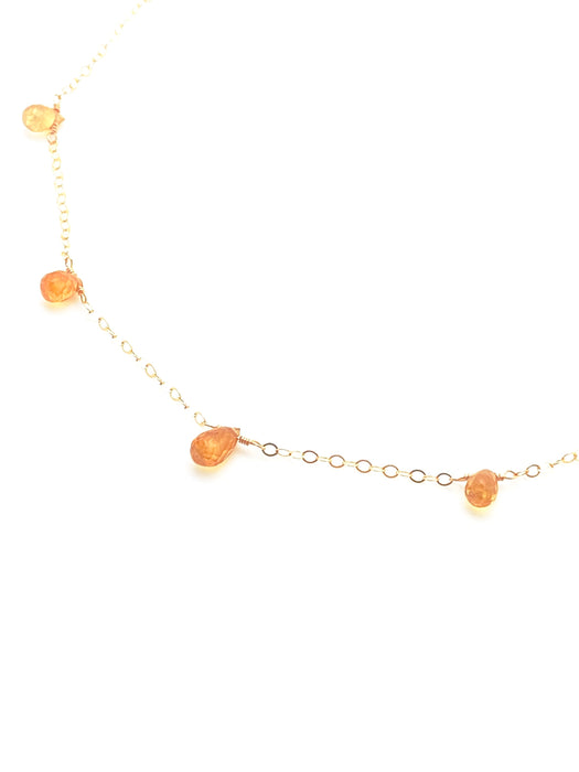 Dewdrops Necklace - Yellow Sapphire