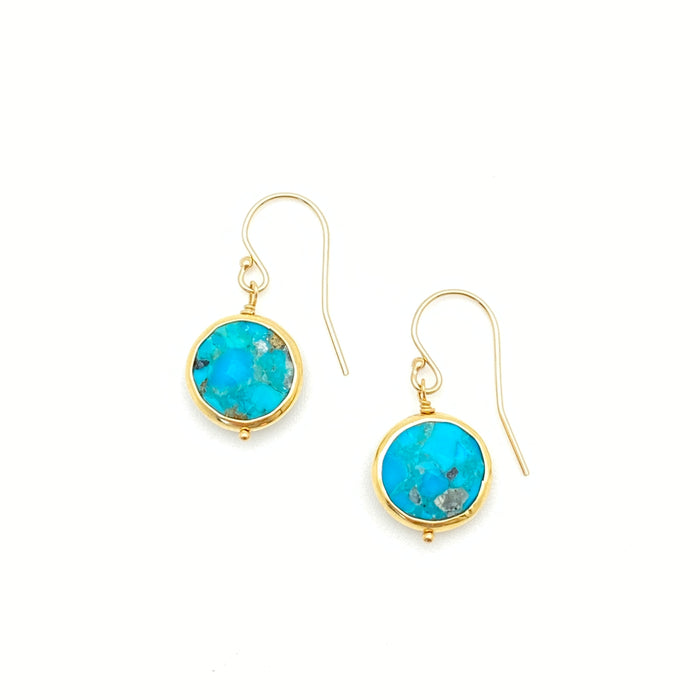 Kristen Earrings - Turquoise (Chrysocolla)