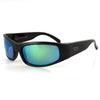 Manatee Fishing Sunglasses, Black Frame, Smoke w/ Green Mirror Polarized Lenses