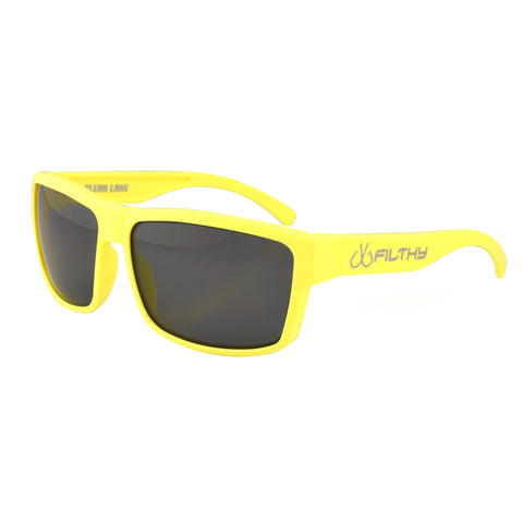 Ames Filthy Anglers Sunglass, Yellow frame, Smoked Polarized Lenses