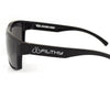 Filthy by Clear Lake Ames Sunglass, Black frame, Smoked Polarized Lenses