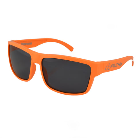 Ames Filthy Anglers Sunglass, Orange frame, Smoked Polarized Lenses