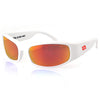 Patriotic Limited Edition Manatee, White Frame, Smoked Polarized w/ Sunburst Mirror