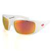 Patriotic Limited Edition Montana, White Frame, Smoked Polarized w/ Sunburst Mirror