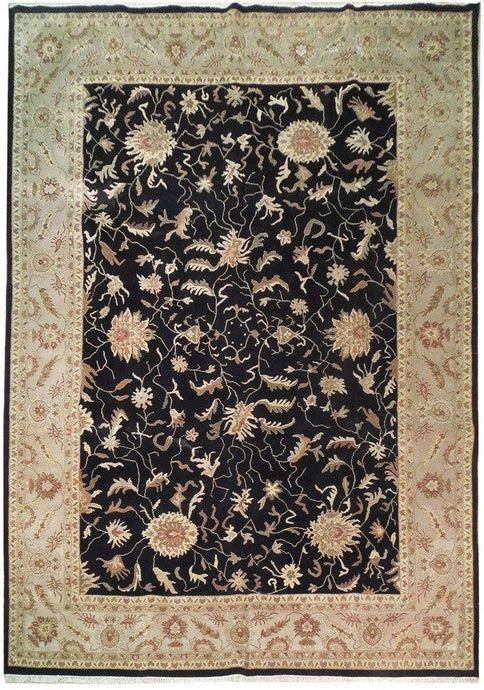 Fascinating 10x14 Authentic Hand Knotted Vegetable Dyed Chobi Rug - India - bestrugplace