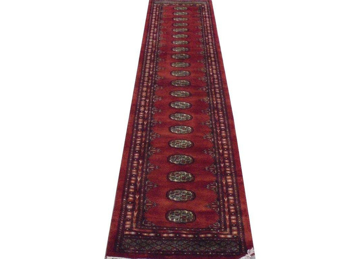 Luxurious 10x3 Authentic Hand Knotted Mori Bokhara Rug - Pakistan - bestrugplace