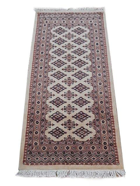 Luxurious 2x5 Authentic Hand Knotted Jaldar Bokhara Rug - Pakistan - bestrugplace