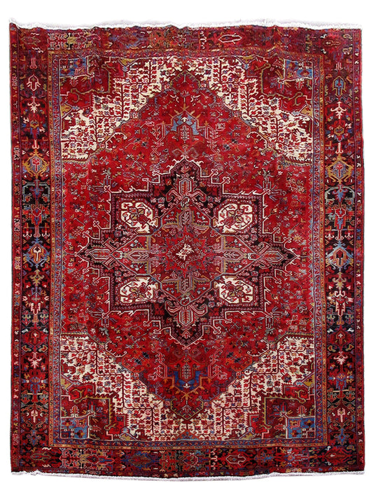 10x13 Authentic Hand Knotted Persian Heriz Rug - Iran - bestrugplace