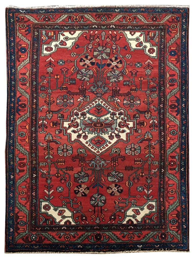 5x6 Authentic Hand-knotted Persian Hamadan Rug - Iran