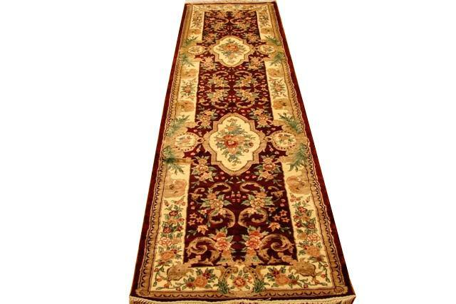 3x10 Art Silk Runner Rug-China - bestrugplace