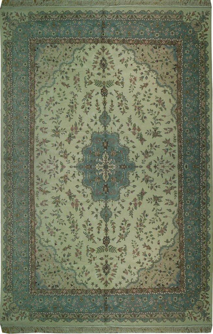 Fascinating 12x18 Authentic Handmade High Quality Thick Wool Rug-India - bestrugplace