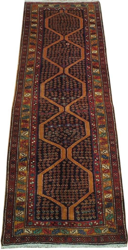 Luxurious 4x11 Authentic Handmade Herati Persian Runner - Iran