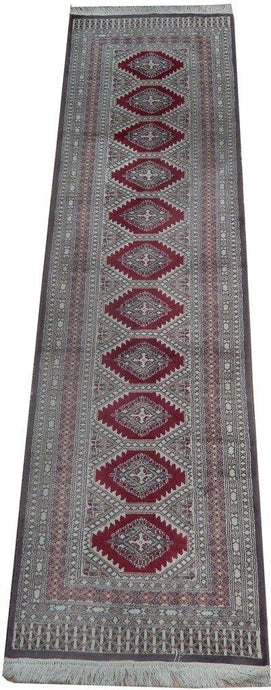 Radiant 3x10 Authentic Hand Knotted Pre-Owned Bokhara Runner - Pakistan - bestrugplace