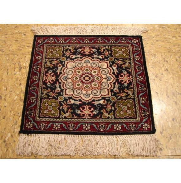 1x1 Authentic Handmade Silk Rug-China-Square