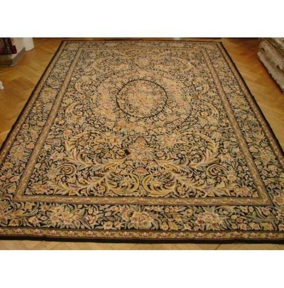 10x14 Authentic Handmade Needlepoint Rug- CHINA