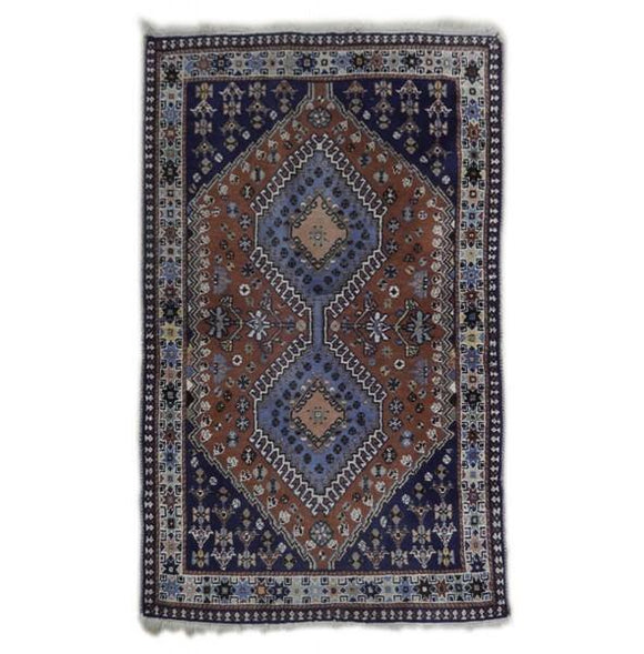 3x4 Authentic Hand Knotted Persian Yalameh Rug - Iran