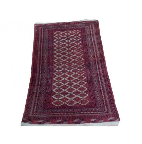 Harooni Rugs - Pristine 4x6 Authentic Hand Knotted Semi-Antique Turkoman Bokhara Rug - Iran