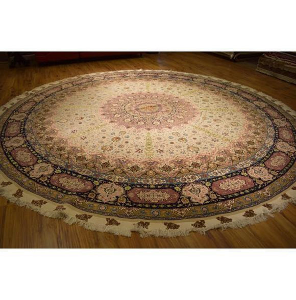 Fascinating 13x13 Authentic Hand Knotted Rug