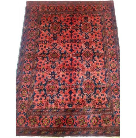 Stunning 7x5 Authentic Hand-knotted Khal Momadi Rug - Pakistan