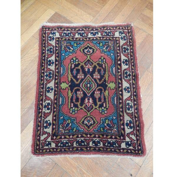 2x3 Authentic Hand Knotted Antique Persian Rug - Iran
